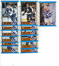 1X TORONTO MAPLE LEAFS 1989-90 opc COMPLETE TEAM SET NMMT O Pee Chee Lots Availa