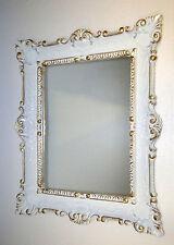 Wandspiegel Weiß-gold vintage, Shabby Chic, Barock,Badspiegel Jugendstil 57x47