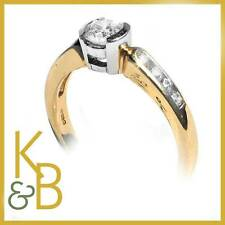 18ct Gold 0.36ct Round Diamond & 8 Diamond Shoulders RRP £1507 (12246) SALE!!!