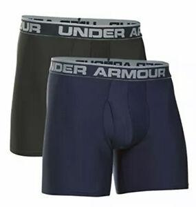 "Mens Under Armour Original Boxerjock 2-Pack Boxer Briefs 6""inseam Size-S 29-29"