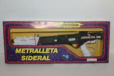 Battery Operated Space Machine Gun METRALLETA SIDERAL by Sanchis Spain in Box