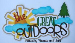 Great Outdoor boy girl paper piecing title premade scrapbook Rhonda rm613art