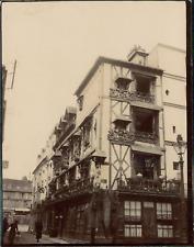 Seine Maritime, Vieille Maison à Dieppe Vintage citrate print. Photo légendée au