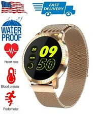 Rose Gold Smart Watch with Weather Calorie Step Counter for iPhone Samsung LG
