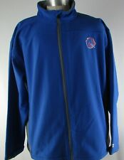 Boise State University Broncos NCAA Men's Blue Soft Shell Full-Zip Jacket