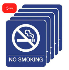 NO SMOKING Vinyl Stickers 7X6 inch Self Adhesive Waterproof Home Office Business