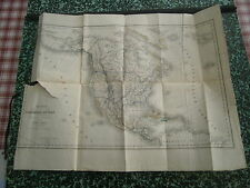 Carte 1850 Amérique du Nord dressée par Dufour pour Mr Alcide d'Orbigny