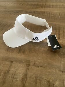 NWT Adidas Team White Adjustable Visor Logo