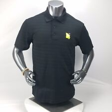 "Mens M Black Polo ""The Georgia Trail"" Golf Shirt Excellent Condition"