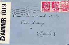 ALGERIA 1940's - CENSORED ENVELOPE TO THE RED CROSS IN GENEVA