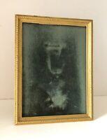 Cadre photo en LAITON Doré bronze style LOUIS XVI 1900 Frame XXe 14X10cm