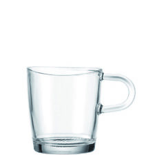 Set of Six Leonardo Glass Loop Handle Cappuccino Mugs