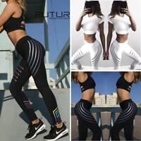 Women Yoga Leggings Push Up Anti-Cellulite Scrunch Fitness Workout Gym Pants US