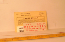 Champ O scale Milwaukee Road Diesel decals