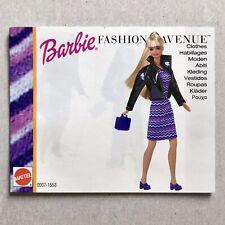 BARBIE Doll Fashion Avenue Clothes Catalog Booklet 1999 Mattel 20 Pgs Kelly Ken