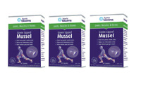 HENRY BLOOMS GREEN LIPPED MUSSEL 500MG 180 CAPSULES THREE PACK