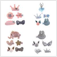 5pcs Kids Girls Hair Clips Bowknot Hairpin Barrette Hair Accessories Headdress
