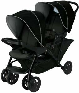 Graco Stadium Duo Tandem Pushchair With Click Connect - Black/Grey