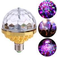 6W Rotating Crystal Magic Ball RGB LED Stage Light Bulb for Disco Party DJ Decor