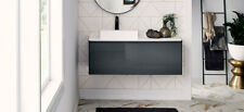 "48"" Glossy Grey contemporary Wall Mounted Single Floating Bathroom Vanity Top"