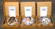 "MANTLE MAYS & SNIDER 1993 SPORTS IMPRESSIONS 6 1/2"" BEST OF BB 2 DIFF PLATES MIB"