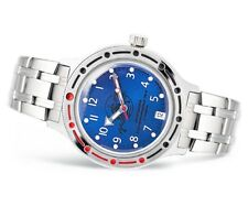 Vostok Amphibian 420379 Military Russian Diver Watch Scuba Dude Blue Auto