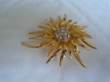Flower Brooch With Centre White Stone's