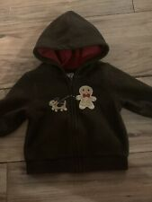Gymboree Gingerbread Boy Boys Jacket Size 3-6 Months Brown Hood