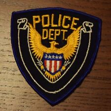 Police Dept Department Law Enforcement Patch with Eagle and Shield