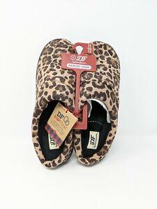 Dear Foam Leopard Print Stepfoam Memory Foam Slippers (11-12) XLarge NWT