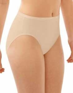 Bali Hi Cut Panty Underwear Panties Full Cut Fit Womens Soft Cotton Stretch NWT
