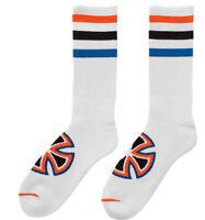 INDEPENDENT TRUCK CO' - osfa Streifen Socke - Skateboard-Socken - weiß