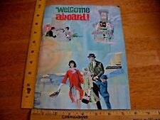 Continental Airlines 1950s Welcome Aboard US map folder Hawaii seat pocket postr