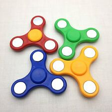 4 X -Tri-Spinner Fidget,  it's for kids to FIT THEIR HAND MIX COLOR- Metal