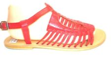 FIRETRAP Rock & Rags red leather strappy flat gladiator sandals UK 8 worn twice
