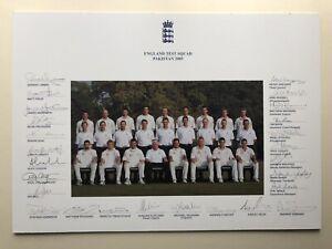 "England Cricket Test Squad 2005 Vs Pakistan Signed Team Print Approx 16"" X 12"""