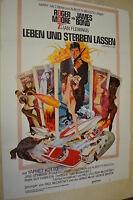 James Bond 007 de la Vida Y Sterben Puede - Cartel Película A1 - Roger Moore -
