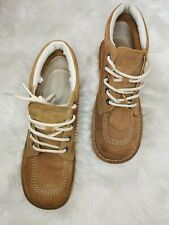 Kickers Kick Hi (Tan) Mens Ankle Boots Casual Nabuck LaceUp Leather Shoes
