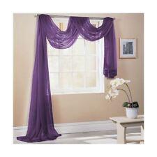 Violet 150x300cm 150x300cm SUR MESURE écharpe de fenêtre de voile lambrequin