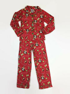 Buddy the Elf Boys Red Coat-Style Christmas Pajamas 7-8