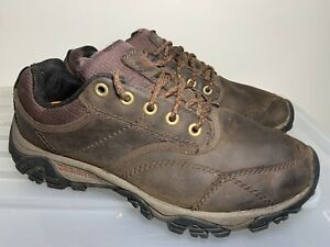 Mens MERRELL Moab Rover Vibram Leather Hiking Shoes US 10.5 #18903
