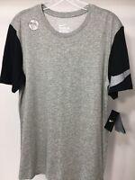 New Men's Nike Dri-Fit Short Sleeve T Shirt Size M Heather Gray/Blk Basketball
