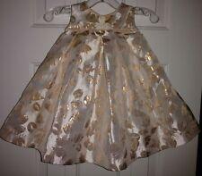 Catherine Malandrino Mini Pale Pink With Pinkish-Gold Roses Party Dress 3-6 M