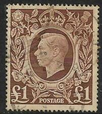 KGV1  £ 1  1948 Fine Used As per Scan