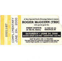 ROGER McGUINN Concert Ticket Stub MINNEAPOLIS MN 6/24/00 FIRST AVENUE THE BYRDS