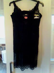 Gorgeous Seduction Debenhams Eva Black Lace Dress Slip Size 40D BNWTS