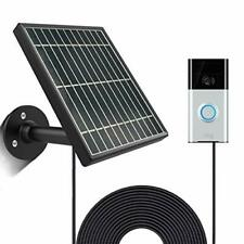 Solar Panel for Ring Video Doorbell 1/2/3/3Plus, Waterproof Charge