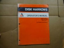 Allis Chalmers 2500 Series Disc Harrow Non Fold Operators Manual 881
