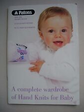 Patons Pattern Book 5000 - A Complete Wardrobe of Hand Knits for Baby