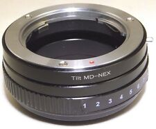 TILT Minolta MD Lens mount adapter Ring to Sony NEX E Camera ILCE VG10 A7R α6400
